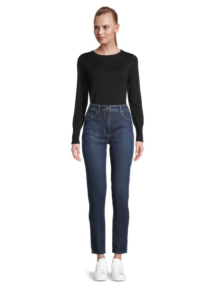 Betty Barclay Slim Fit-Jeans mit aufgesetzten Taschen Material, Blau