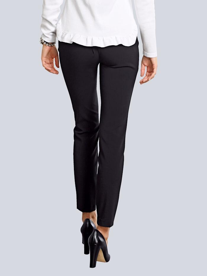 Pantalon glissières fantaisie à la taille