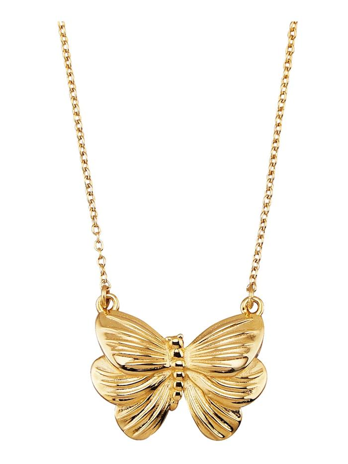 Diemer Highlights Schmetterlings-Collier in Silber 925, Gelbgoldfarben
