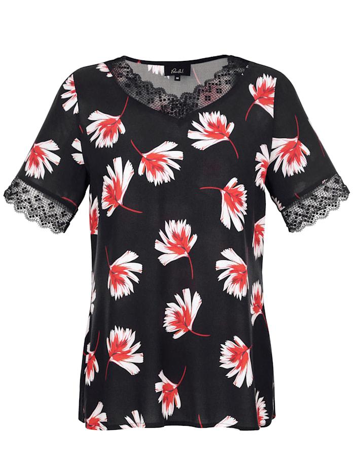 Halenkové tričko s květinovým potiskem