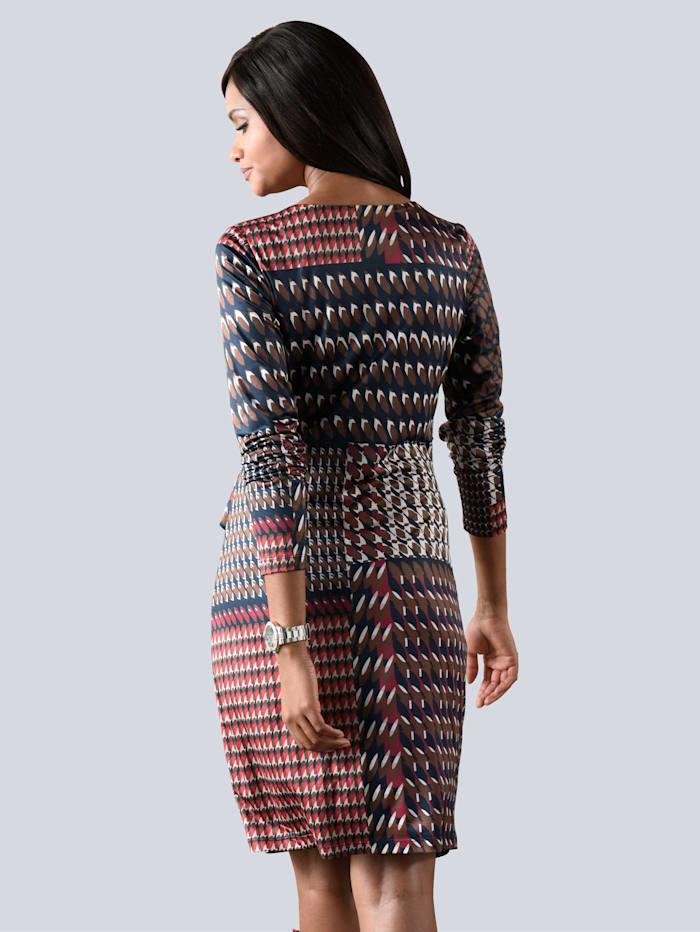 Jerseykleid in farblich harmonischem Grafikprint