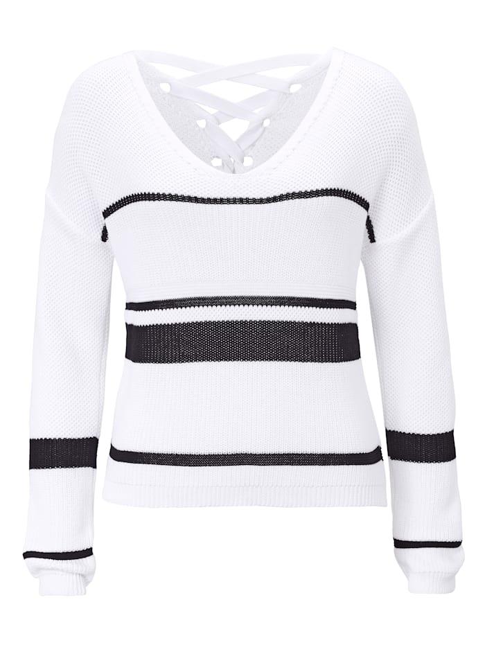 REKEN MAAR Pullover, Weiß