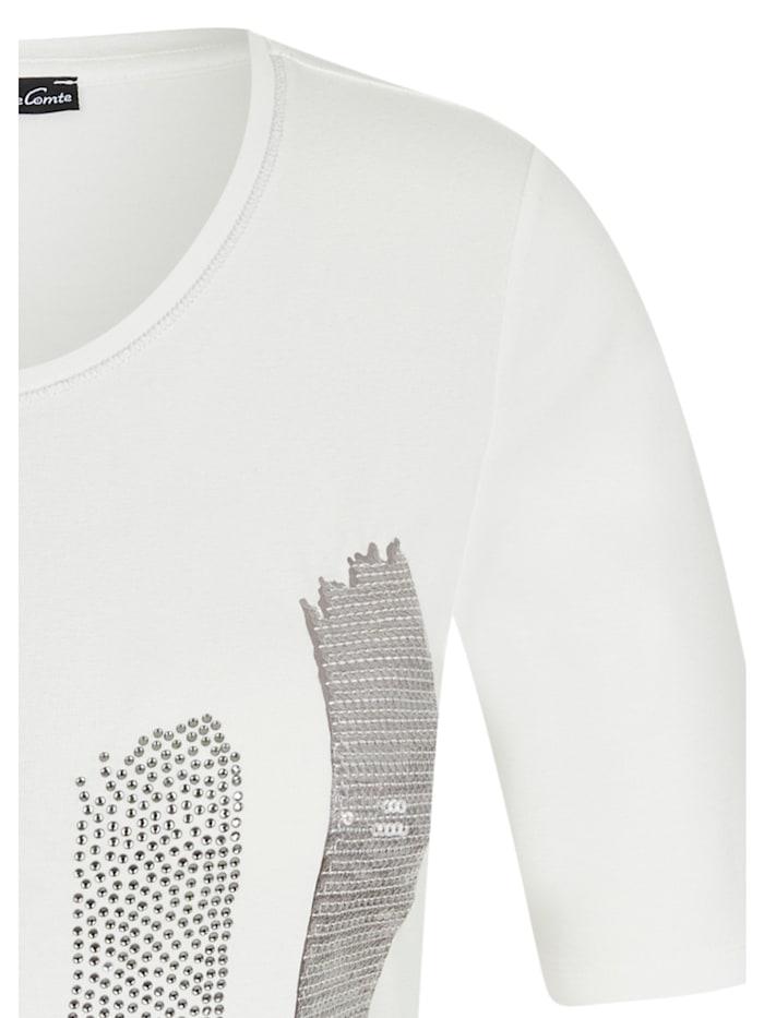 Shirt mit Front-Print und Glitzersteinen