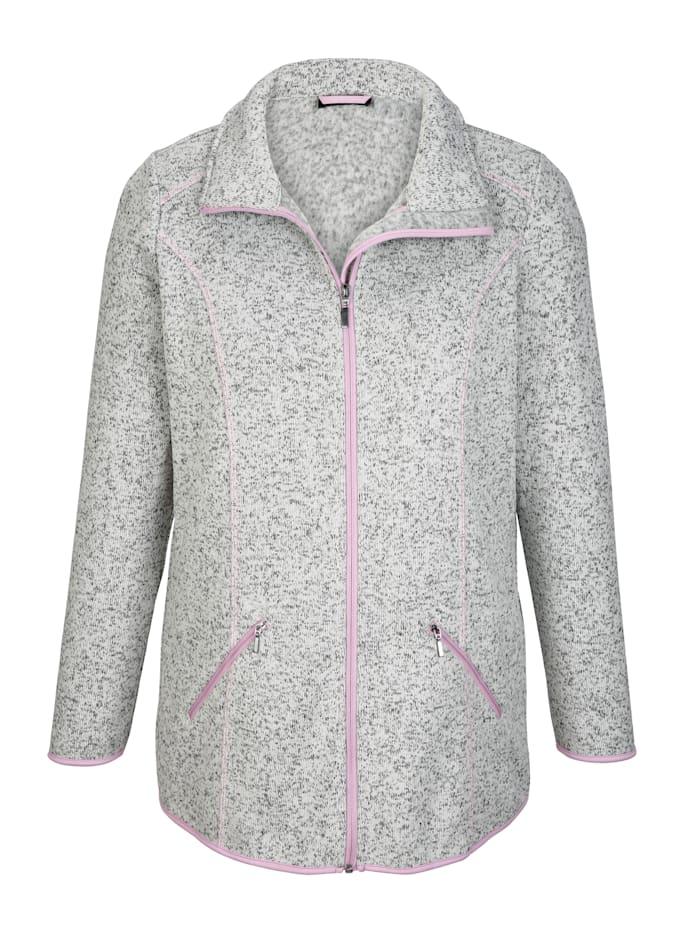 Fleece vest met flatterende contrastnaden