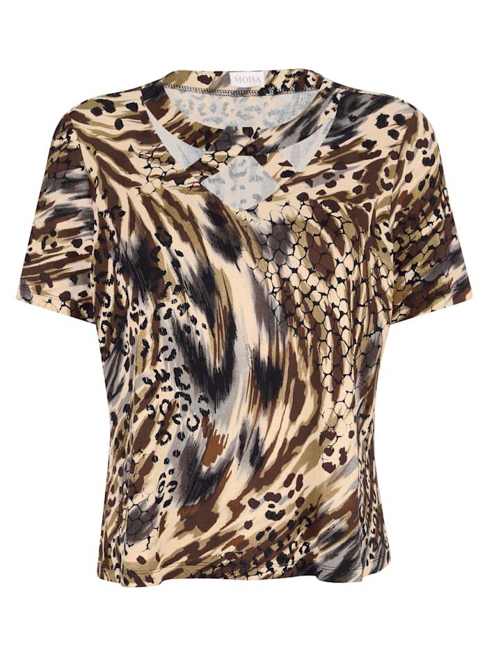 Shirt met animalprint rondom