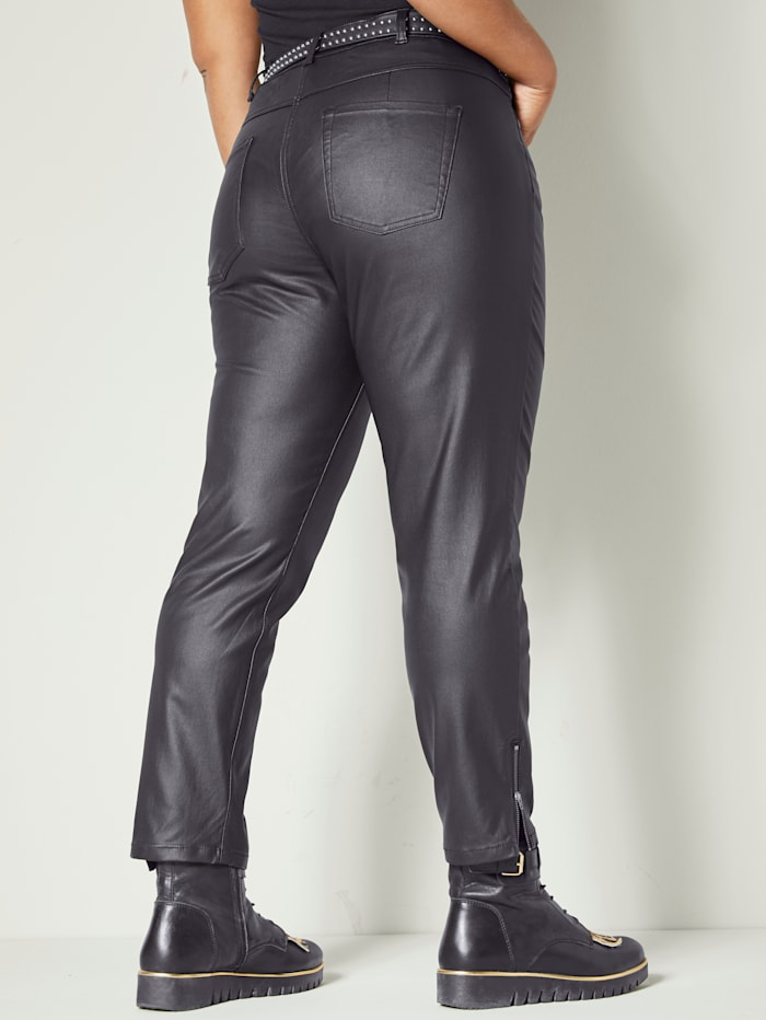 Pantalon en simili
