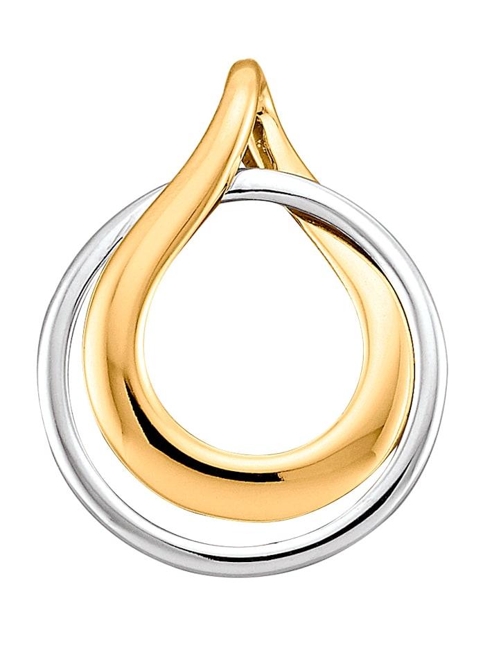 Amara Or Pendentif en or jaune et or blanc 585, Coloris or jaune