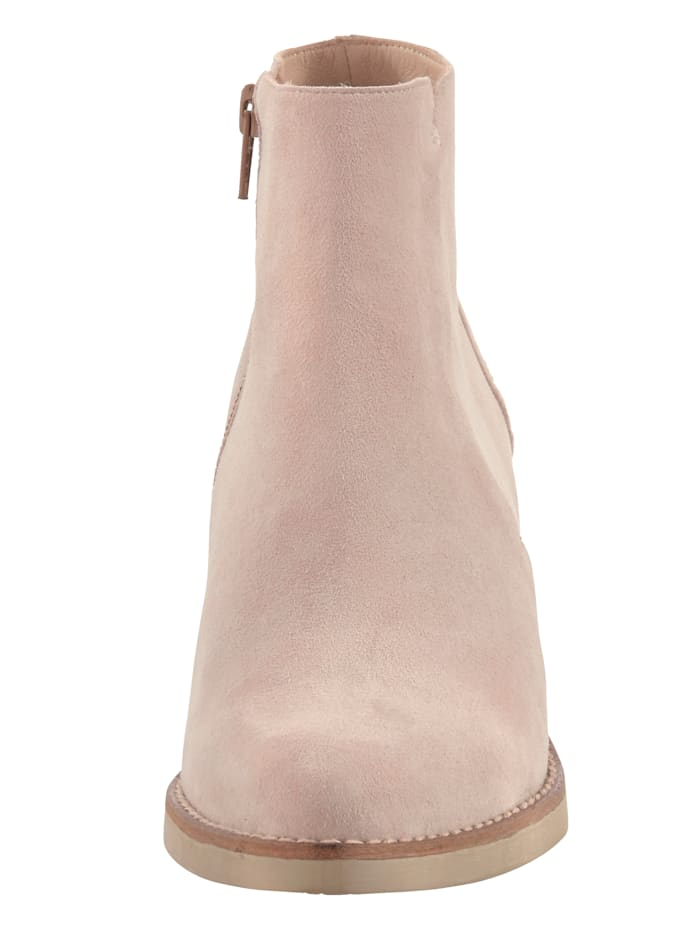 Stiefelette aus weichem Veloursleder