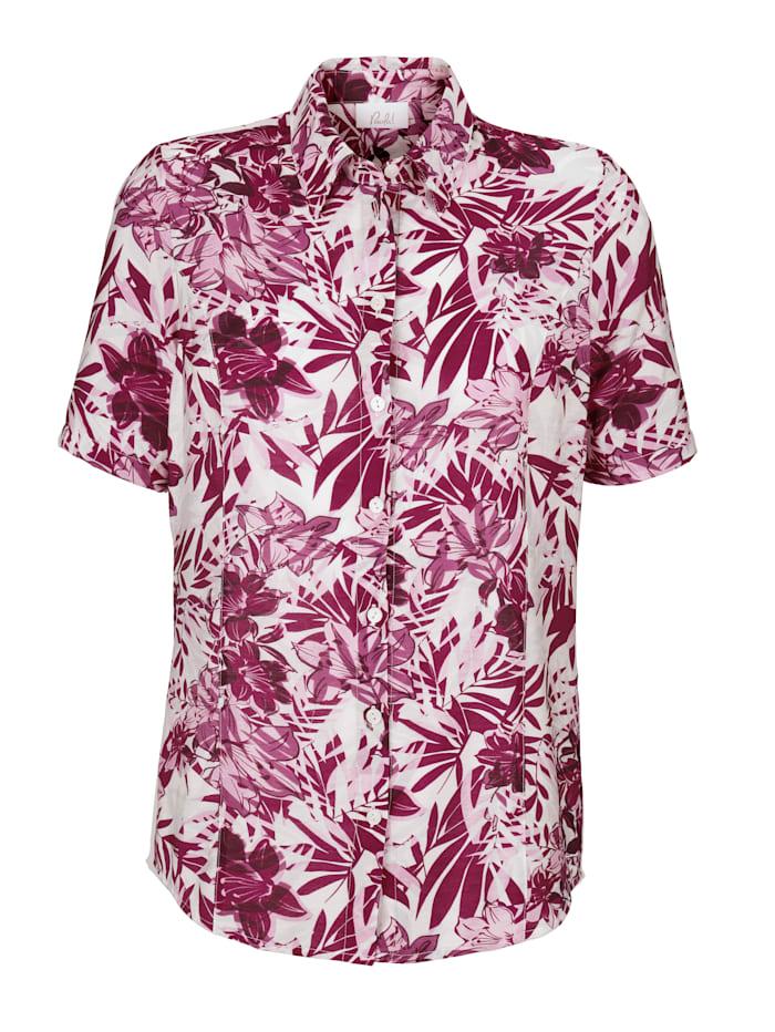 Bluse rundum floral bedruckt