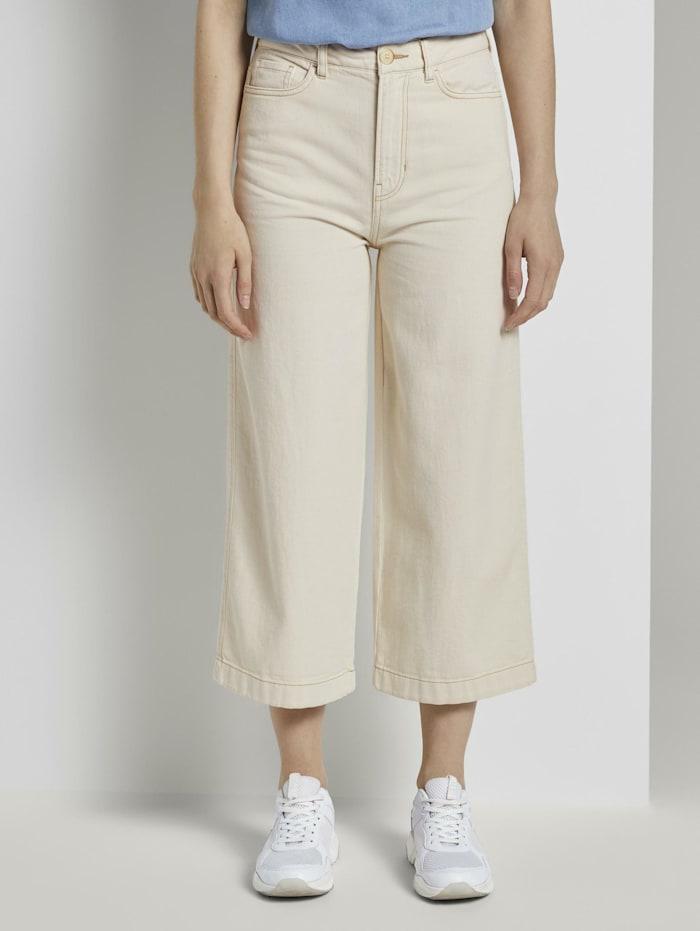 Tom Tailor Denim Culotte Jeans, soft creme beige
