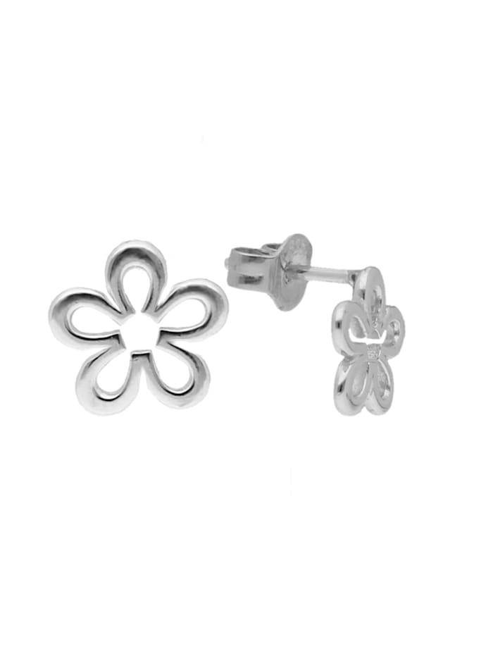 Smart Jewel Ohrstecker Blume, Silber 925, Silber