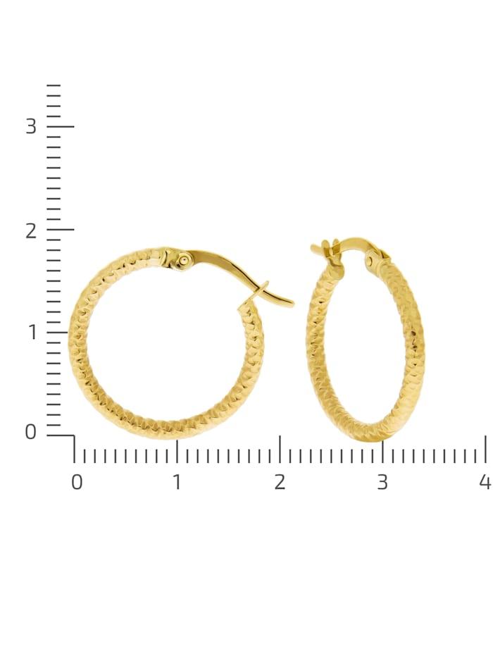 Creolen 375/- Gold 1,8cm Matt/Glanz
