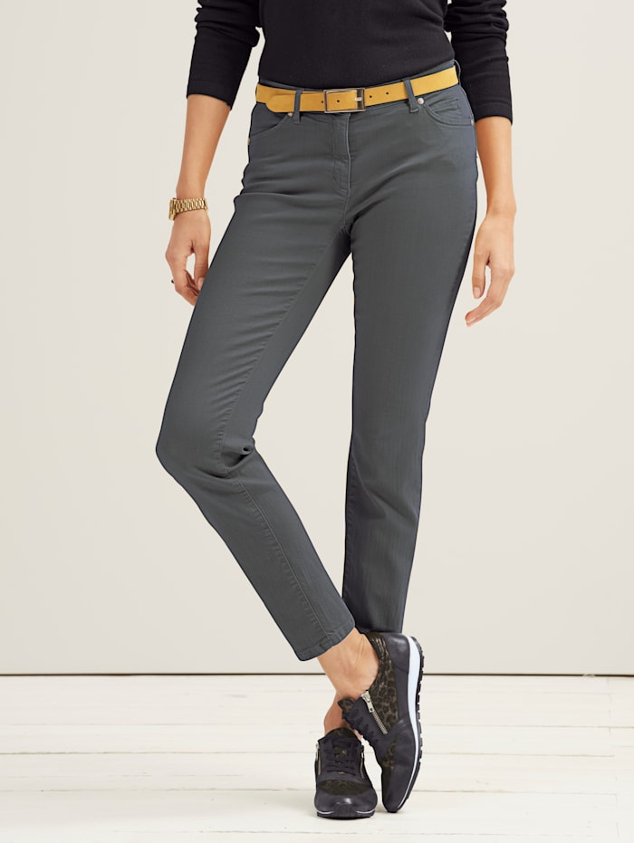 Toni Jeans van coloured denim, Grijs
