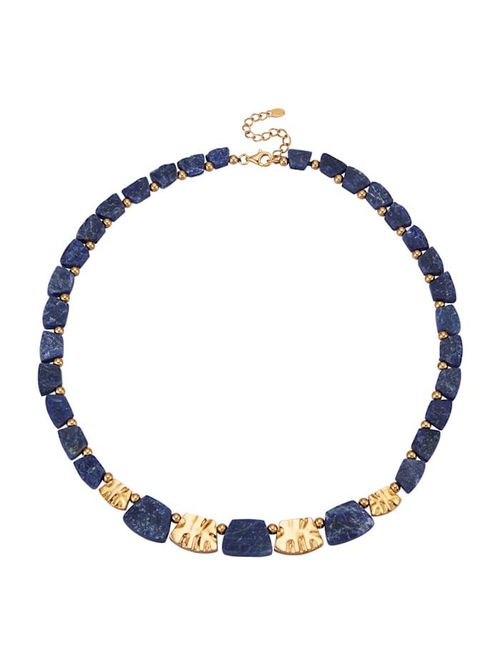 Amara Pierres colorées Collier avec sodalite, Bleu