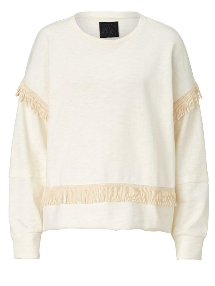 REKEN MAAR Sweatshirt, Creme-Weiß