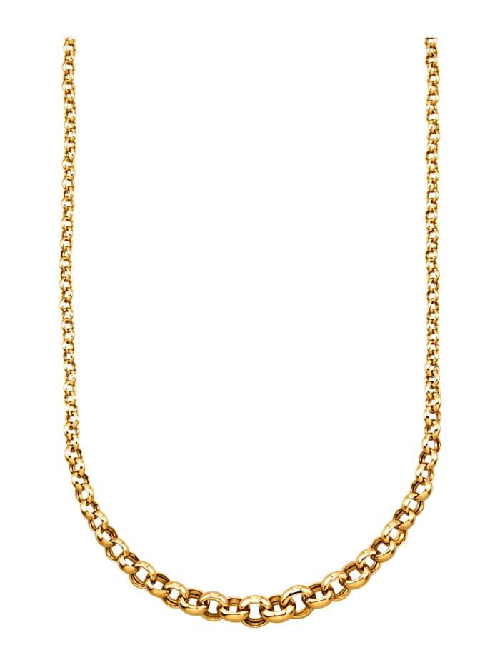 Diemer Gold Erbskette in Gelbgold 585, Gelbgoldfarben