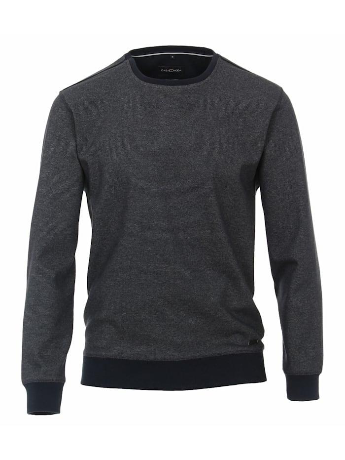 CASAMODA Sweat-Shirt andere Muster, graues Dunkelblau