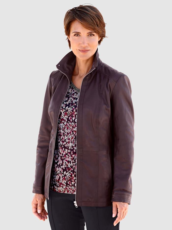 Paola Kožená bunda z měkké jehněčí nappa kůže, Bordó
