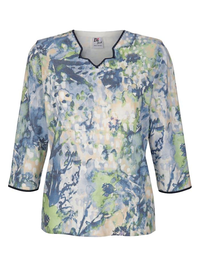 Pullover mit Batik-Druck