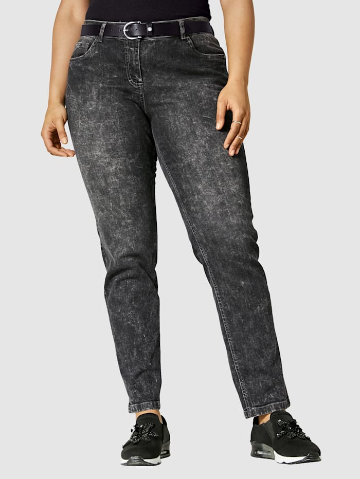 Angel of Style Jeans Carla Slim Fit, Dark grey