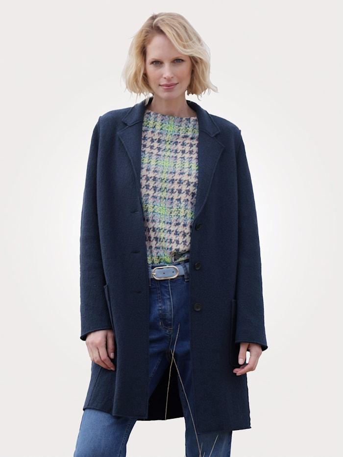 MONA Jacke aus reiner Schurwolle, Rauchblau