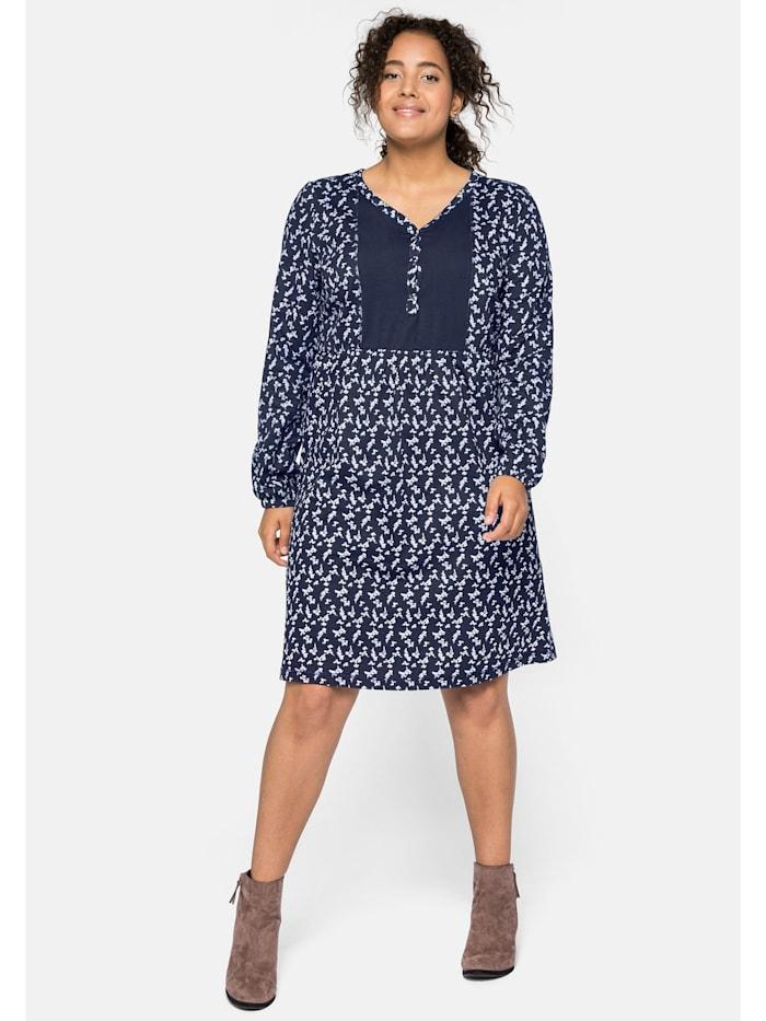 Sheego Sheego Jerseykleid aus leichter Baumwollqualität, marine bedruckt