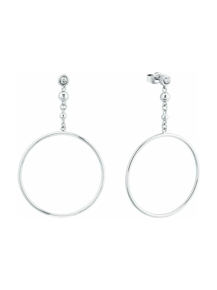 s.Oliver Ohrring für Damen in runder Form , 925er Sterling Silber, Silber