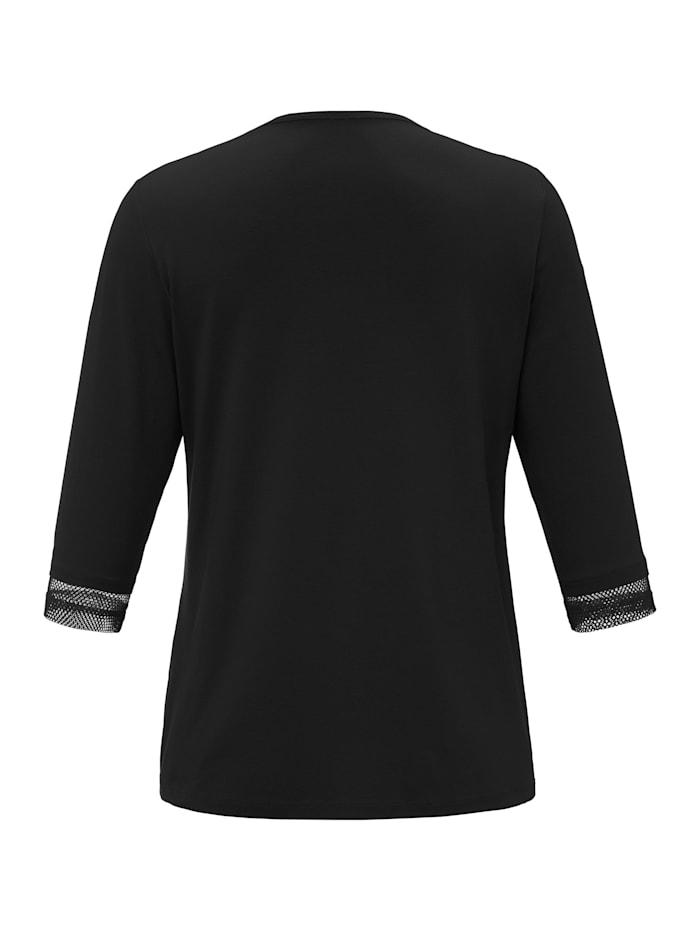 Shirtjacke mit 3/4-Arm .