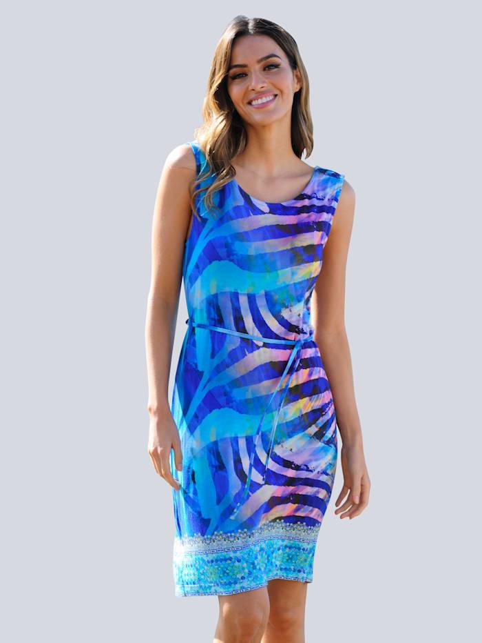 Fürstenberg Strandkleid mit Bordürendruck, Blau