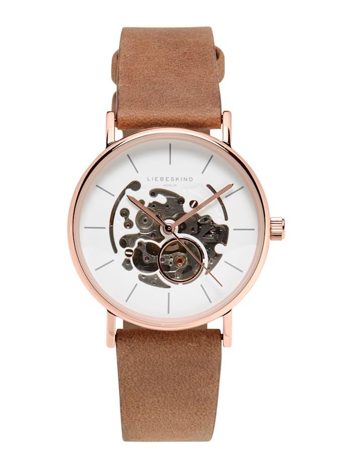 LIEBESKIND Berlin Armbanduhr, Braun