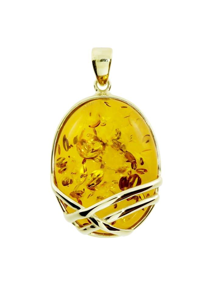OSTSEE-SCHMUCK Anhänger - Hedra - Gold 333/000 - Bernstein, gelb