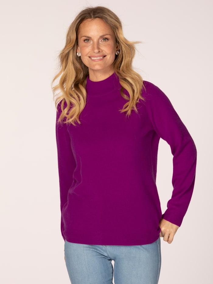 MONA Kaschmir-Pullover mit Stehkragen, Cyclam