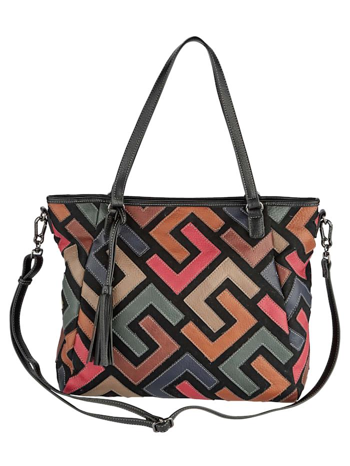 SURI FREY Shopper vo výraznej farebnej kombinácii, Multicolor