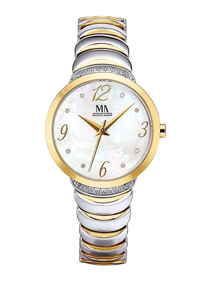 Meister Anker Dámské hodinky, Barva žlutého zlata