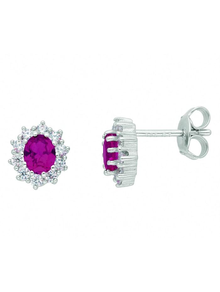 1001 Diamonds Damen Silberschmuck 925 Silber Ohrringe / Ohrstecker mit Zirkonia, bunt