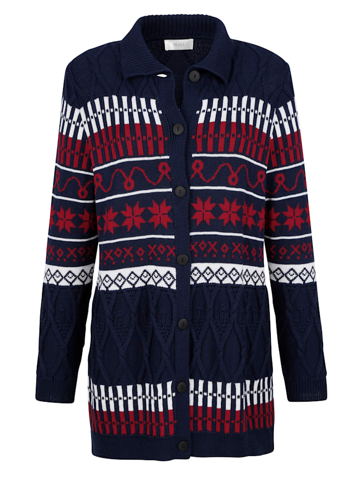Cardigan with a classic Fair Isle pattern