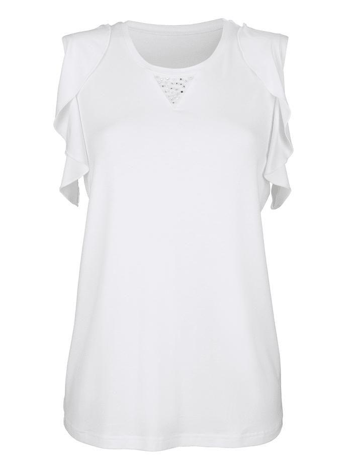 Shirt mit Perlenverzierung