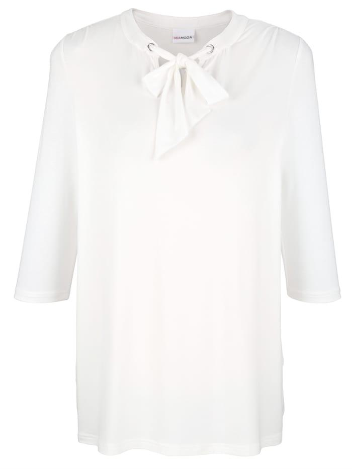 Shirt mit Bindeband am Ausschnitt