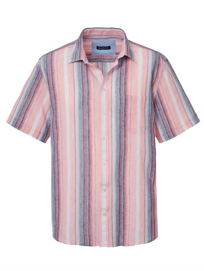 BABISTA Skjorta av lin och bomull, Korall