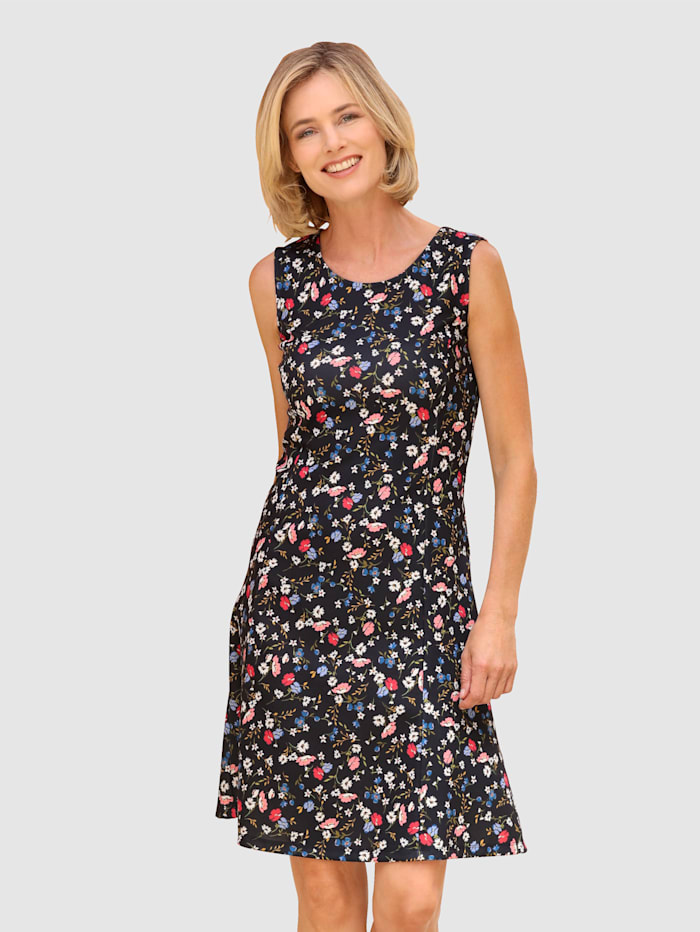 Dress In Kleid mit Blumenprint, Marineblau