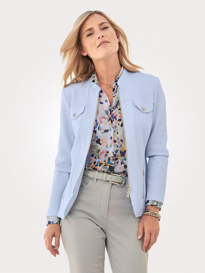 ERFO Blazer en jersey, Bleu ciel
