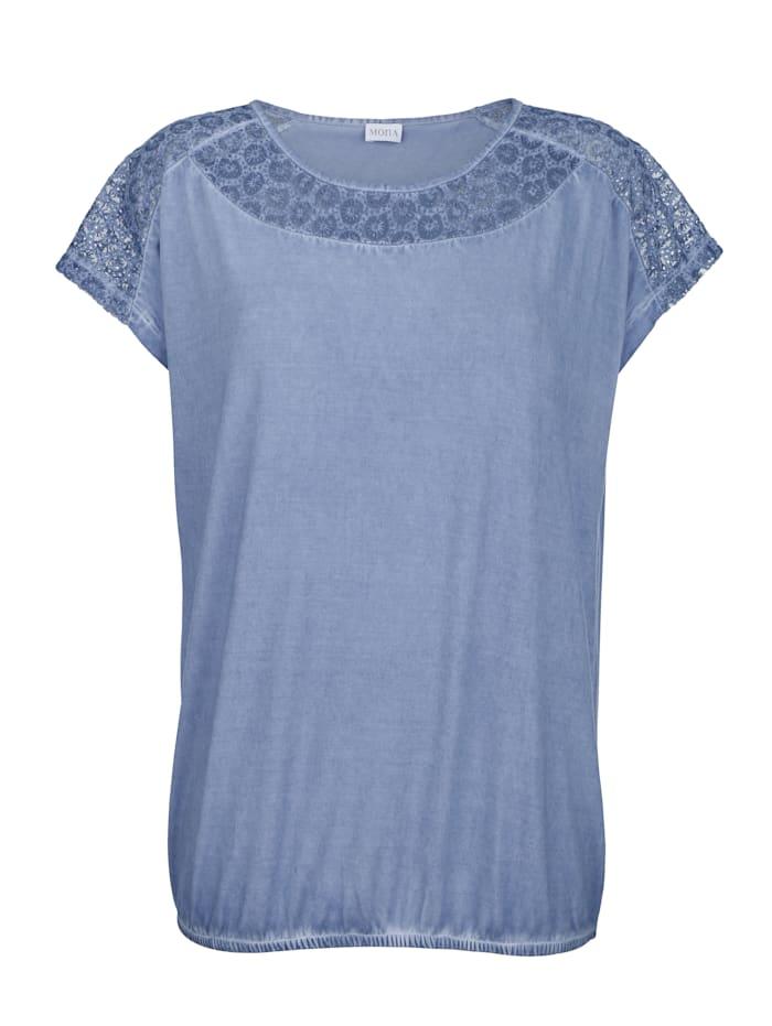 T-shirt à effet délavé