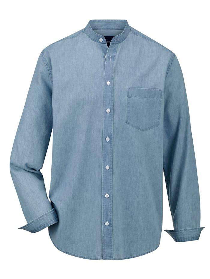 BABISTA Jeansoverhemd met modieuze opstaande kraag, Lichtblauw