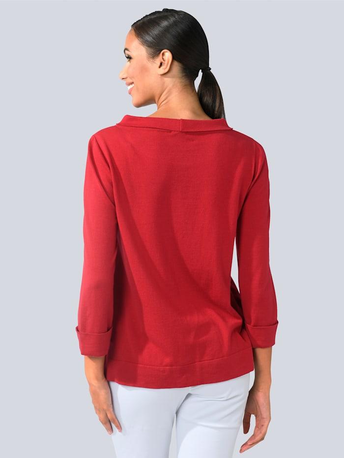 Pullover mit modischem Umlegekragen