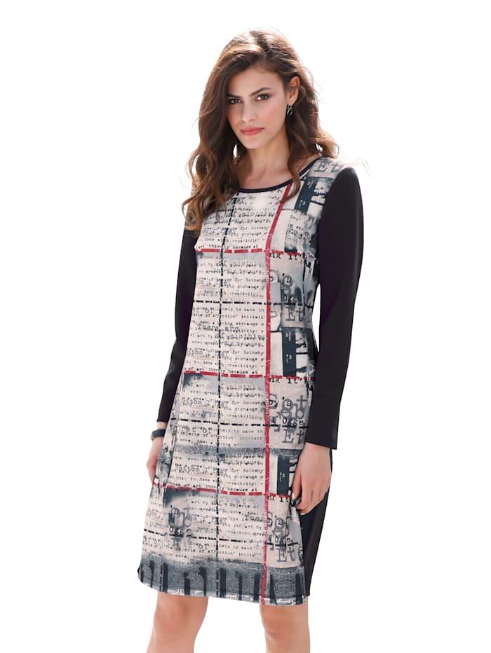 Jerseykleid mit Druck im Vorderteil