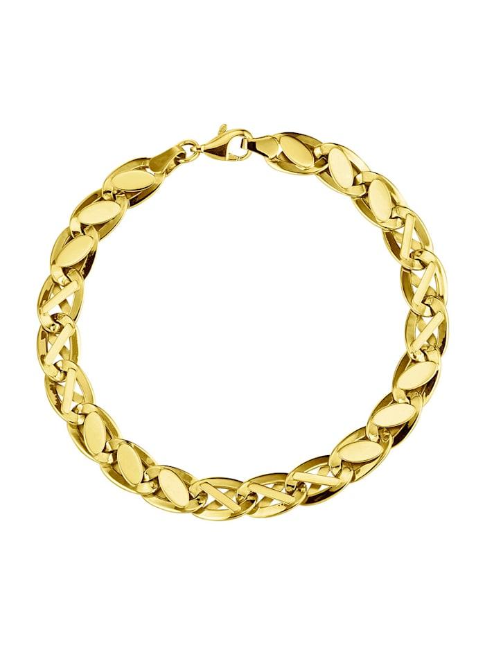 Armband med vacker glans, Guldfärgad