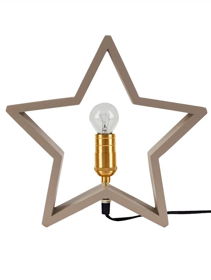 Star Beleuchteter Stern, grau