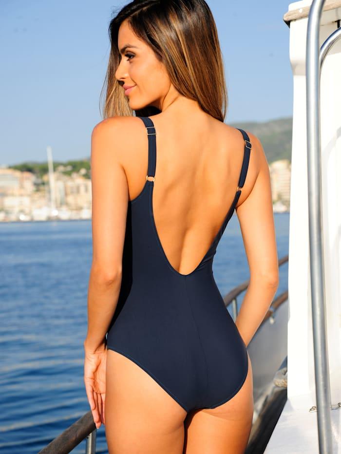 Badeanzug mit dekorativem Reißverschluß