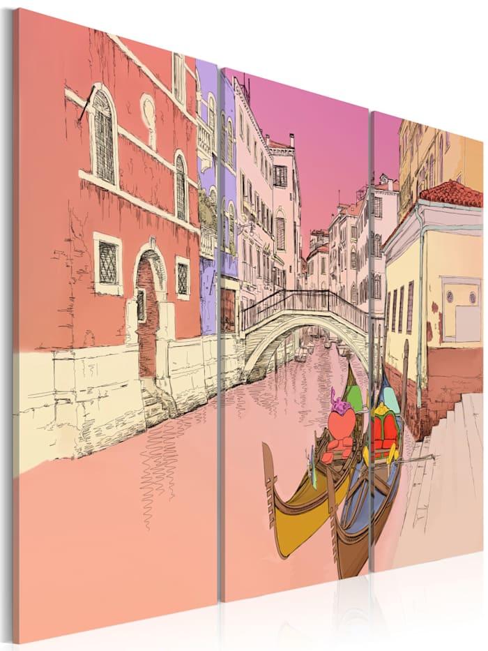 artgeist Wandbild Romantic gondolas, Beige,rosa
