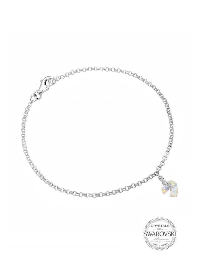 Armband Herz Swarovski Kristalle 925 Sterling Silber
